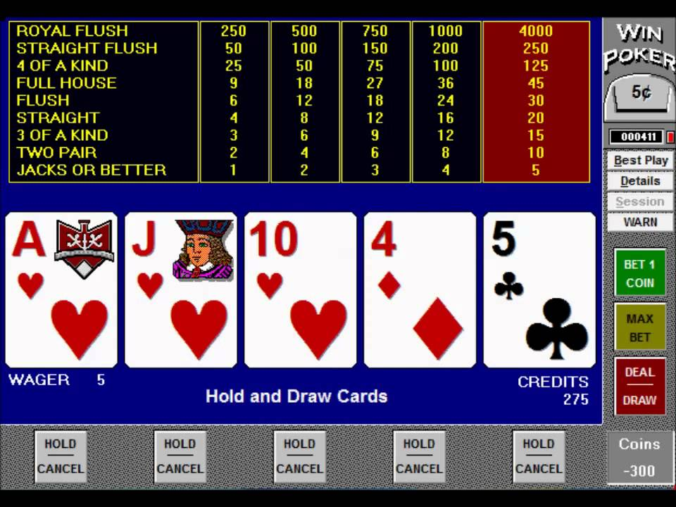 Five-Hand-Jacks-or-Better-Video-Poker-Game